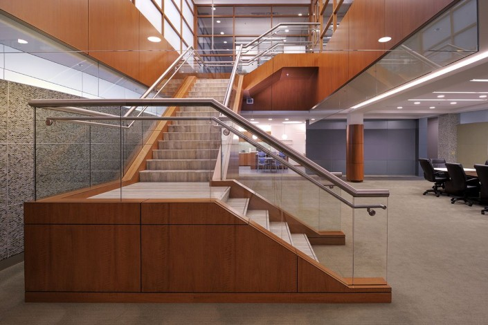 LLOG Office Grand Stair | DonahueFavret Contractors, Inc. | Louisiana Commercial General Contractors