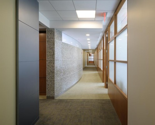 LLOG Office Hallway | DonahueFavret Contractors, Inc. | Louisiana Commercial General Contractors