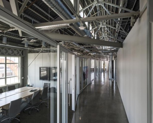 Turn Services Office Hallway | DonahueFavret Contractors, Inc. | Louisiana Commercial General Contractors