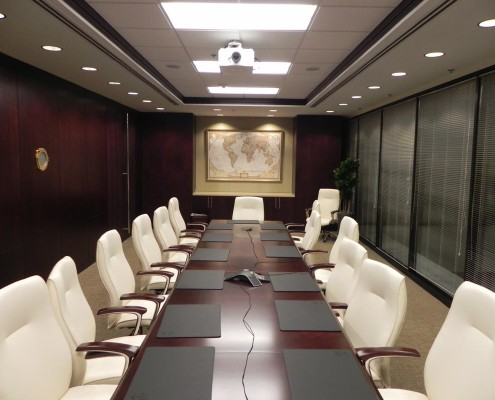 Tidewater Office Conference Room | DonahueFavret Contractors, Inc. | Louisiana Commercial General Contractors