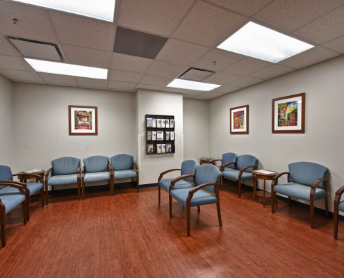 Touro New Orleans Wound Center Waiting Area