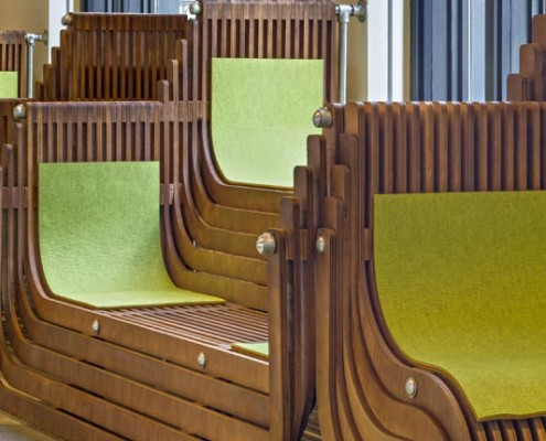Tulane School of Social Work Custom Benches | DonahueFavret Contractors, Inc. | Louisiana Commercial General Contractors