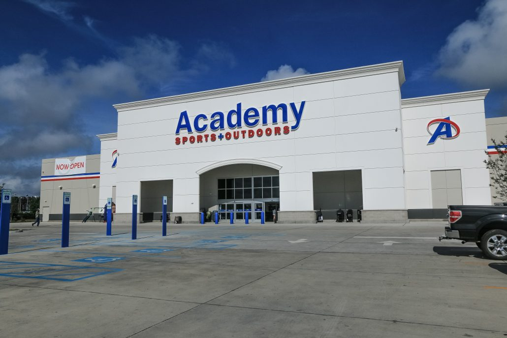 academy sports outdoors owner construction donahuefavret commercial retail levinson completion aia contract lawrence architect footage ltd square days