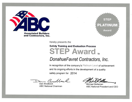 ABC Platinum STEP Award