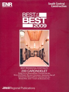 ENR Best of the Best Award Residential Hospitality