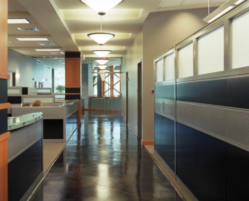 FARA Corporate Office Mandeville Hallway | DonahueFavret Contractors, Inc. | Louisiana Commercial General Contractors