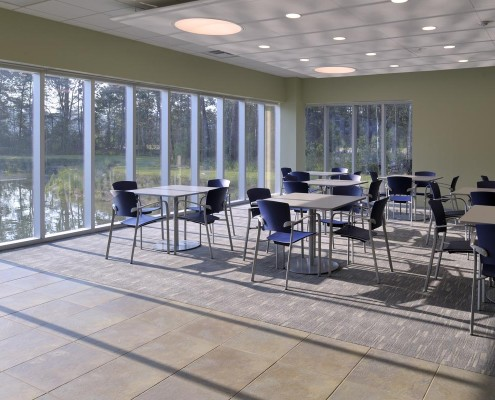 LLOG Office Dining Area | DonahueFavret Contractors, Inc. | Louisiana Commercial General Contractors