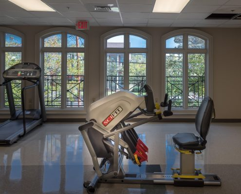 Rehab Center interior in Touro Infirmary, New Orleans, LA | DonahueFavret General Contractors Louisiana and Gulf South