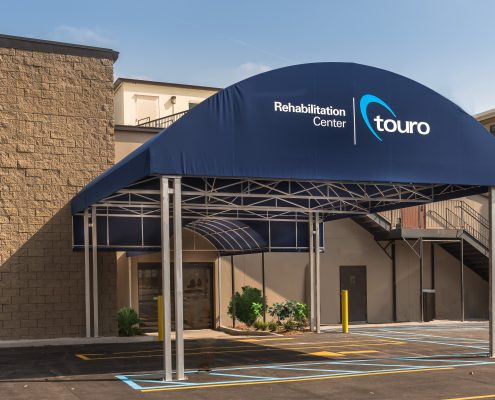 Rehab Center exterior at Touro Infirmary, New Orleans, LA | DonahueFavret General Contractors Louisiana and Gulf South