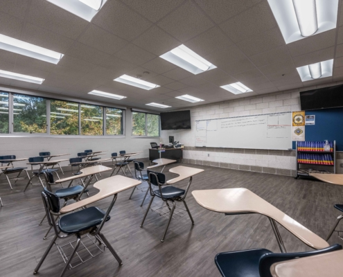 Benilde Hall Classroom | DonahueFavret Contractors | Louisiana and Gulf South