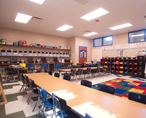 Chalmette Elementary School Classroom | DonahueFavret Contractors, Inc. | Louisiana Commercial General Contractors