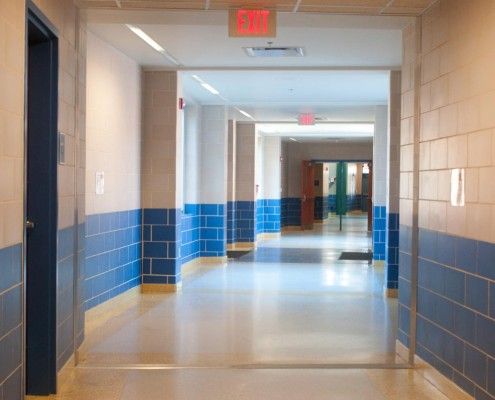 Chalmette Elementary School Hallway | DonahueFavret Contractors, Inc. | Louisiana Commercial General Contractors