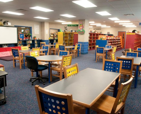 Chalmette Elementary School library | DonahueFavret Contractors, Inc. | Louisiana Commercial General Contractors