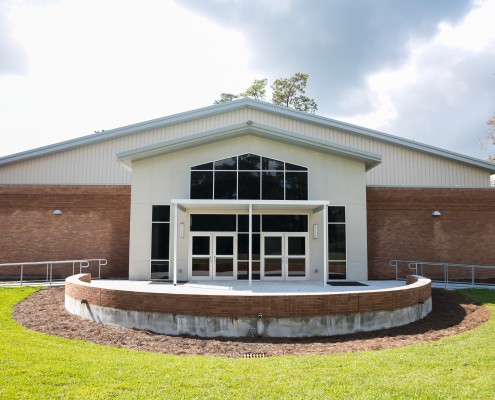 gym exterior of St. Paul's School Covington, LA | DonahueFavret General Contractors Louisiana and Gulf South