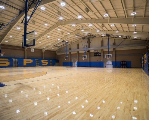 gym at St. Paul's School Covington, LA | DonahueFavret General Contractors Louisiana and Gulf South