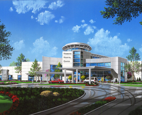 Hammond Hospital Center Illustration