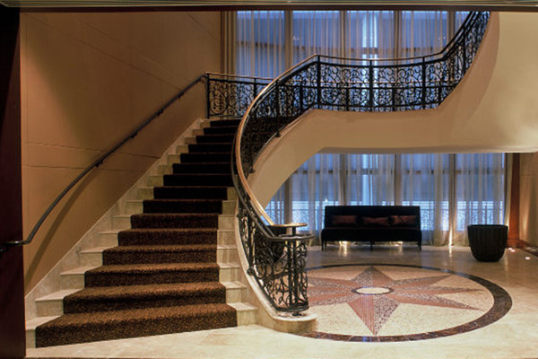 grand staircase Hotel InterContinental Conference Center Construction | DonahueFavret General Contractors | Louisiana and Gulf South
