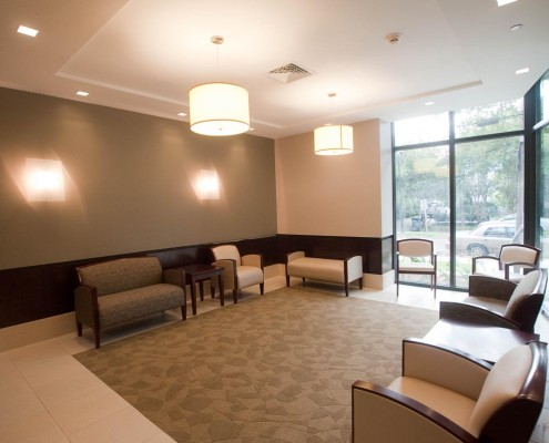 Loyola Law Clinic New Orleans Lobby | DonahueFavret Contractors, Inc. | Louisiana Commercial General Contractors