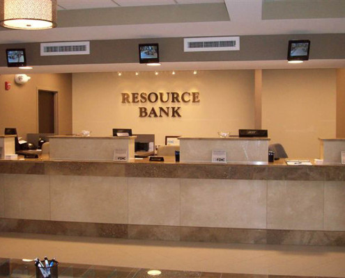 Resource Bank Metairie Branch Build-out Interior