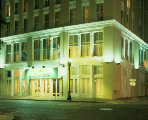St Christopher Hotel New Orleans Exterior Night