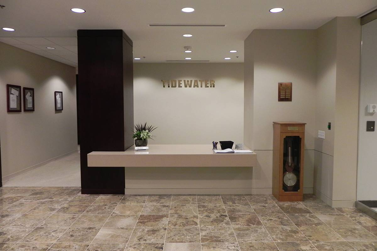 corporate office lobby. Tidewater Corporate Office New Orleans Lobby | DonahueFavret Contractors, Inc. Louisiana Commercial General Z