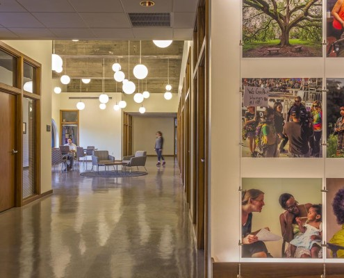 Tulane School of Social Work Common Area | DonahueFavret Contractors, Inc. | Louisiana Commercial General Contractors
