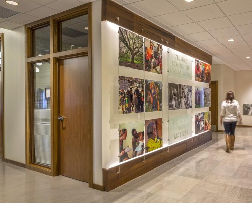 Tulane School of Social Work Hallway | DonahueFavret Contractors, Inc. | Louisiana Commercial General Contractors