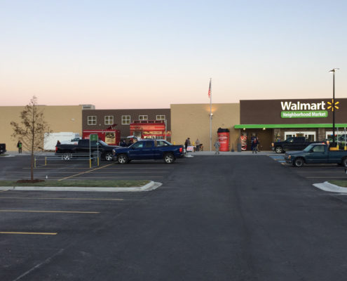 Neighborhood Walmart exterior | DonahueFavret General Contractors Louisiana and Gulf South