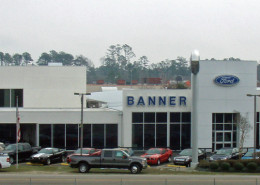 exterior of Banner Ford Renovation Mandeville, LA | DonahueFavret General Contractors | Louisiana and Gulf South
