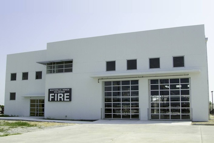 Exterior of Boothville Venice LA Fire Station | DonahueFavret General Contractors | Louisiana and Gulf South