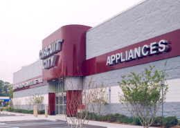exterior of Circuit City Covington Louisiana | DonahueFavret General Contractors | Louisiana and Gulf South