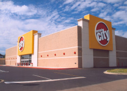exterior of Circuit City Hattiesburg Mississippi | DonahueFavret General Contractors | Louisiana and Gulf South
