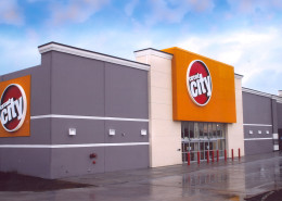 exterior of Circuit City Houma Louisiana | DonahueFavret General Contractors | Louisiana and Gulf South