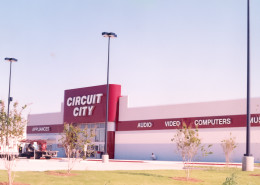 exterior of Circuit City Shreveport Louisiana | DonahueFavret General Contractors | Louisiana and Gulf South