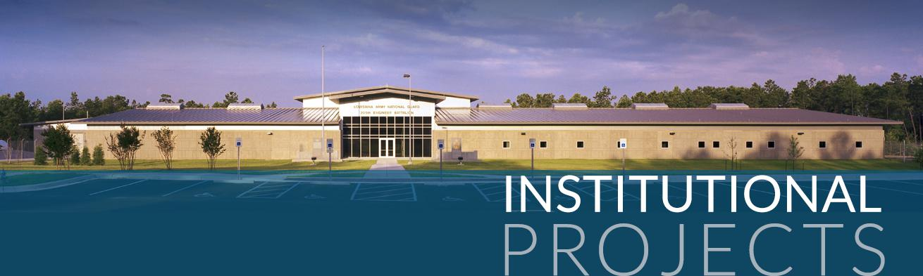 Institutional Projects graphic | DonahueFavret General Contractors | Louisiana and Gulf South