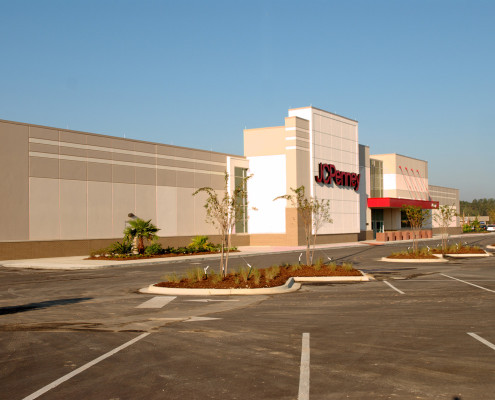 exterior of JCPenney Hammond LA | DonahueFavret General Contractors | Louisiana and Gulf South