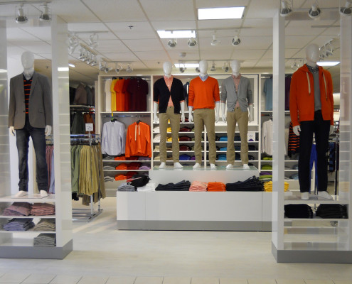 interior display of JCPenney Shops Rollout | DonahueFavret General Contractors | Louisiana and Gulf South