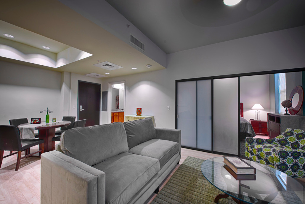 Lykes Apartments New Orleans Historic Renovation Living Area Centennial Place Waterfront Roofing And
