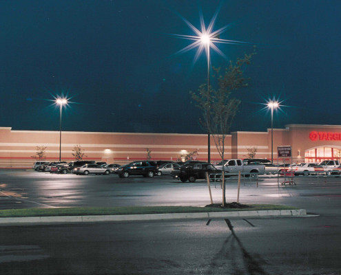 view of facade from parking lot of Manhattan Place Shopping Center Target | DonahueFavret General Contractors | Louisiana and Gulf South