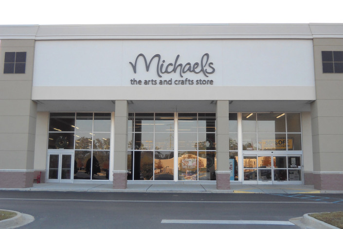 face of River Chase Retail Covington Michaels | DonahueFavret General Contractors | Louisiana and Gulf South