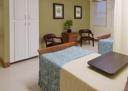 St. Luke's Medical Center New Orleans Patient Room | DonahueFavret General Contractors Louisiana and Gulf South