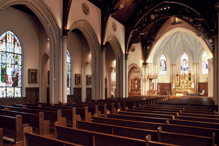 interior of St. Francis of Assisi Church Renovation New Orleans interior | DonahueFavret General Contractors | Louisiana and Gulf South