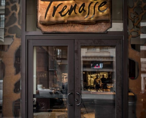 sign of Trenasse in Hotel Intercontinental | DonahueFavret General Contractors | Louisiana and Gulf South