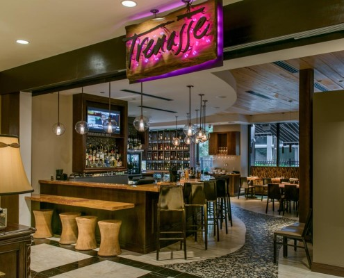 Trenasse Restaurant New Orleans Lobby Entrance | DonahueFavret General Contractors | Louisiana and Gulf South