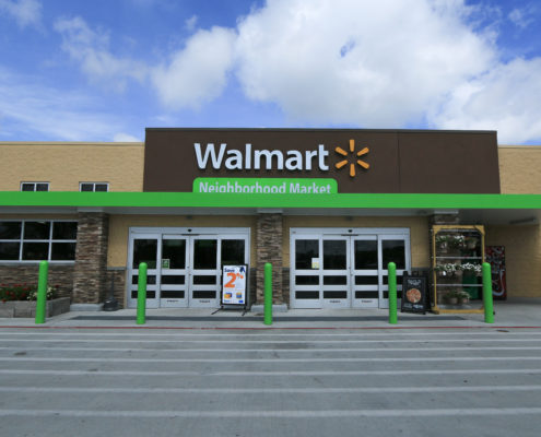 facade of Neighborhood Walmart | DonahueFavret General Contractors Louisiana and Gulf South