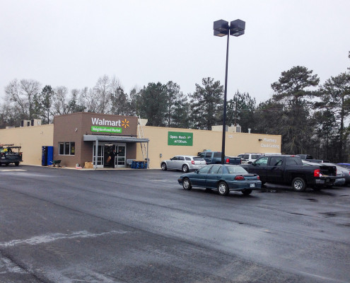 exterior of Walmart Express Kentwood LA | DonahueFavret General Contractors | Louisiana and Gulf South