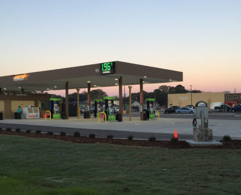 Neighborhood Walmart fuel station | DonahueFavret General Contractors Louisiana and Gulf South