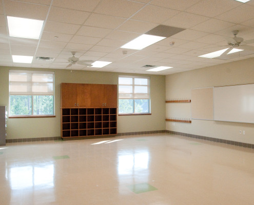 classroom in Lancaster Elementary School Madisonville, LA| DonahueFavret General Contractors Louisiana and Gulf South