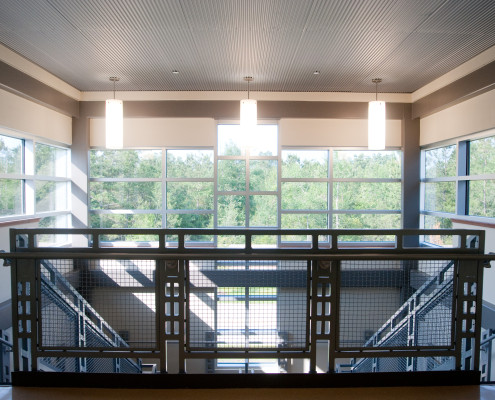 2nd floor stairwell in Lancaster Elementary School Madisonville, LA | DonahueFavret General Contractors Louisiana and Gulf South