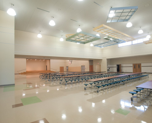 Cafetorium in Lancaster Elementary School Madisonville | DonahueFavret General Contractors Louisiana and Gulf South